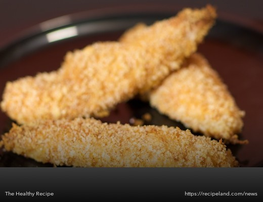 Home-made chicken fingers, lower fat and sodium than take-out