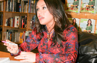 Rachel Ray at a book signing for 2.4.6.8 Great meals