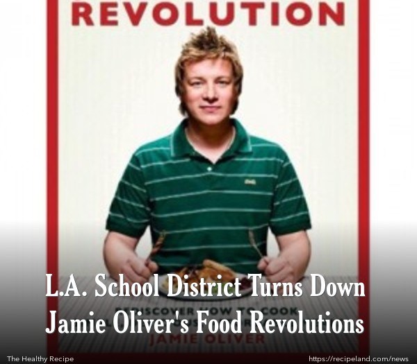 Cover of Jamie Oliver's book: Jamie's Food Revolution