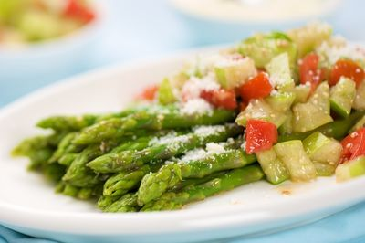 Asparagus and Tomatillo