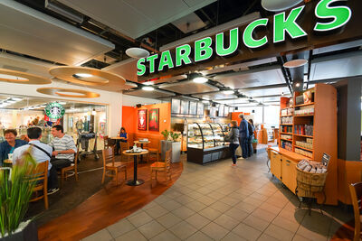 Starbucks coffee house in Switzerland