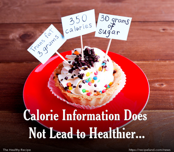 Calorie Information Does Not Lead to Healthier Choices