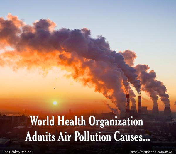World Health Organization Admits Air Pollution Causes Cancer