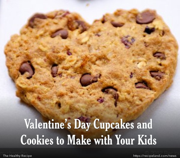 Valentine's Day Chocolate Chip and Peanut Butter Cookies