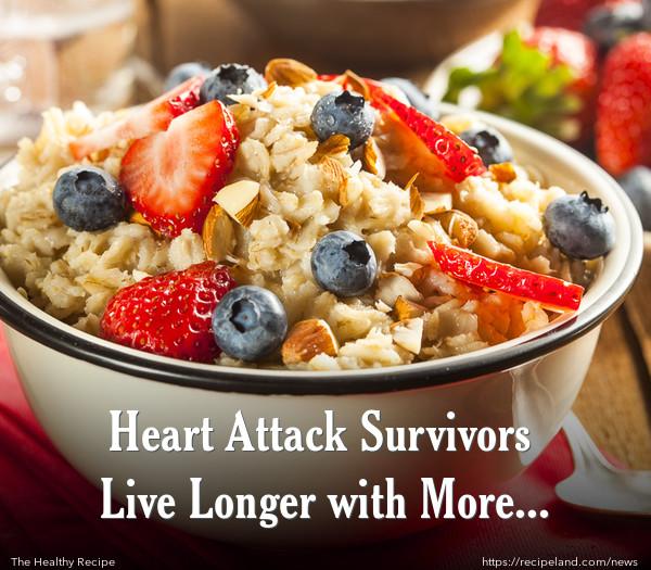 Heart Attack Survivors Live Longer with More Fibre
