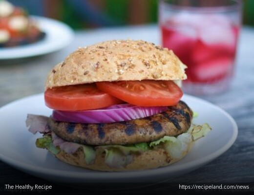 Grilled Marinated Portobello Mushroom Burgers