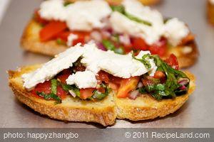 Cherry Tomato and Basil Bruschetta with Goat Cheese