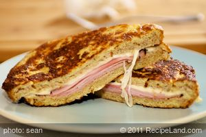 Low Fat Whole Wheat Monte Cristo Sandwich