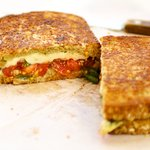 Caprese Grilled Cheese Sandwich with Jalapenos