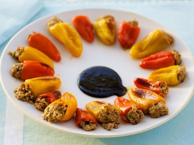 Mediterranean Stuffed Sweet Baby Peppers