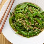 Sugar Snap Peas with Orange Sesame Asian Dressing
