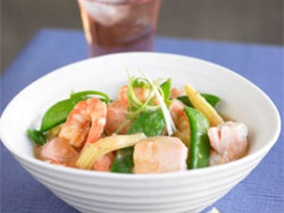 Seafood in Coconut, Ginger and Lemongrass Sauce