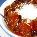 Crockpot Wild Rice MeatballChili