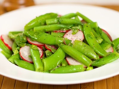 Snap Pea Salad with Radish and Lime