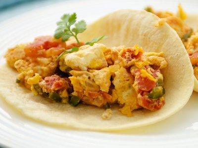 Huevos Revueltos a la Mexicana (Mexican Scrambled Eggs)