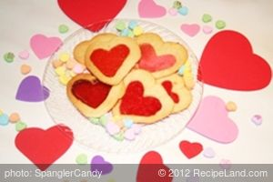 Stained Glass Valentine's Day Cookies