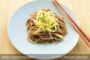 Sunomono or Japanese Noodle and Cucumber Salad