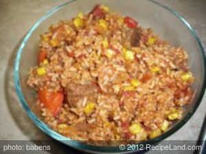 Crockpot Taco Steak and Rice