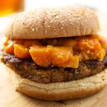 I absolutely enjoyed these burgers with papaya chutney.