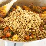 Add lentils.