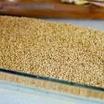 Place quinoa in a casserole dish.