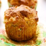Cheesy Whole Wheat Cheddar Muffins