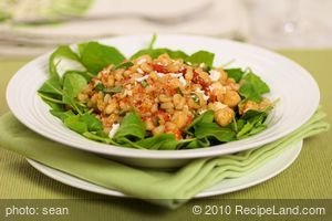 Arugula, Chickpea and Wheat Berry Salad