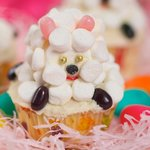 Easter Little Sheep Cupcakes