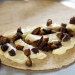 Sprinkle chopped figs evenly over the cheese.