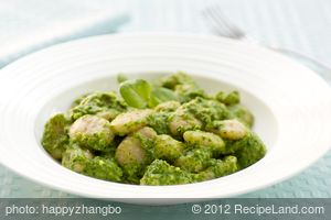 Sweet Potato Gnocchi with Watercress Pesto
