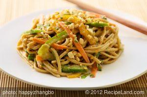 Udon Noodle Salad with Asian Peanut Sauce
