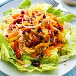 Fresh Vegetable Salad with Maple Soy Vinaigrette