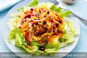 Fresh Vegetable Salad with Maple Soy Vinaigrette