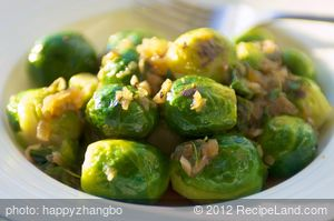 Thyme Braised Brussels Sprouts