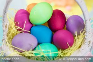 Food Coloring Chart for Easter