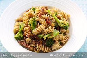 Broccoli and Sun-dried Tomato Pasta Salad with Walnuts