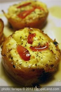 savory muffins with ricotta and mint