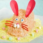 Easter Pink Easy Bunny Cake