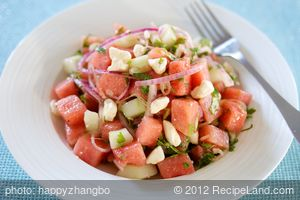 Watermelon, Cucumber and Feta Salad