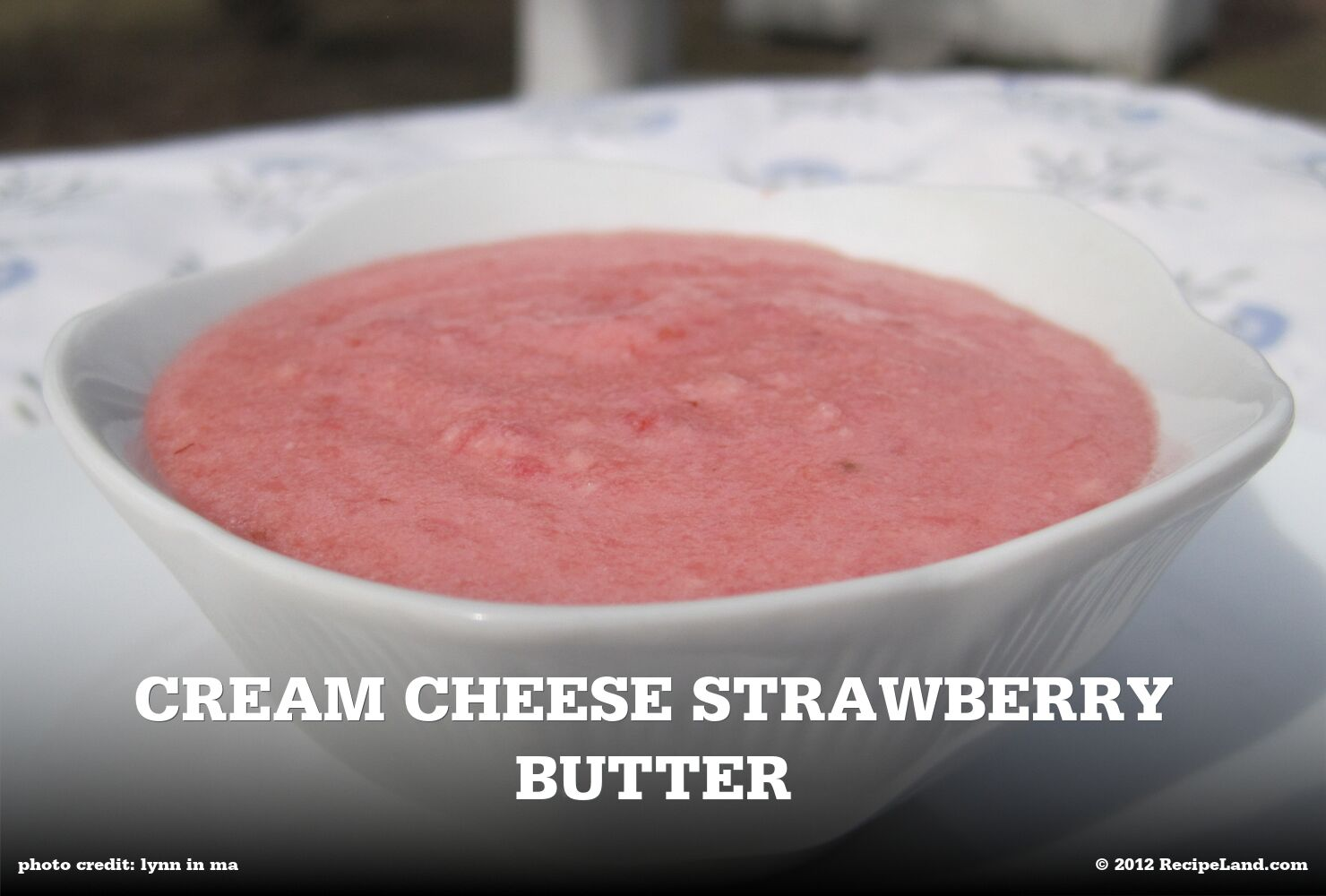 Cream Cheese Strawberry Butter