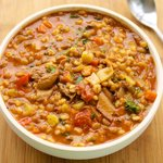 Vegetable Barley Stew with Lentils
