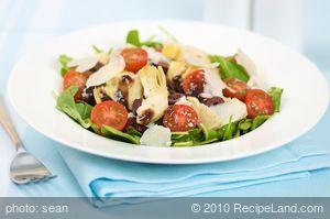 Artichoke and Baby Arugula Salad with Balsamic Vinaigrette
