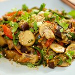 Eggplant Sichuan Style