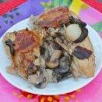 Crockpot Chicken with Mushrooms &Onions