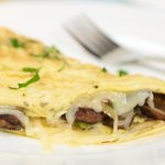 Breakfast Mushroom and Cheese Omelette