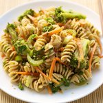 Broccoli Pasta with Sesame Sauce
