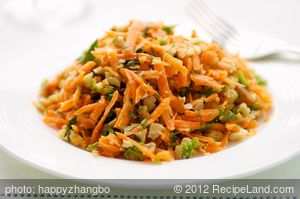 Carrot Slaw with Cashews