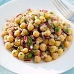 Chick Pea Salad with Garlic-Cumin Vinaigrette