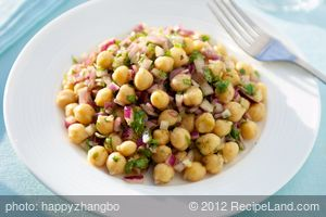 Chick Pea Salad with Garlic-Cumin Vinaigrette