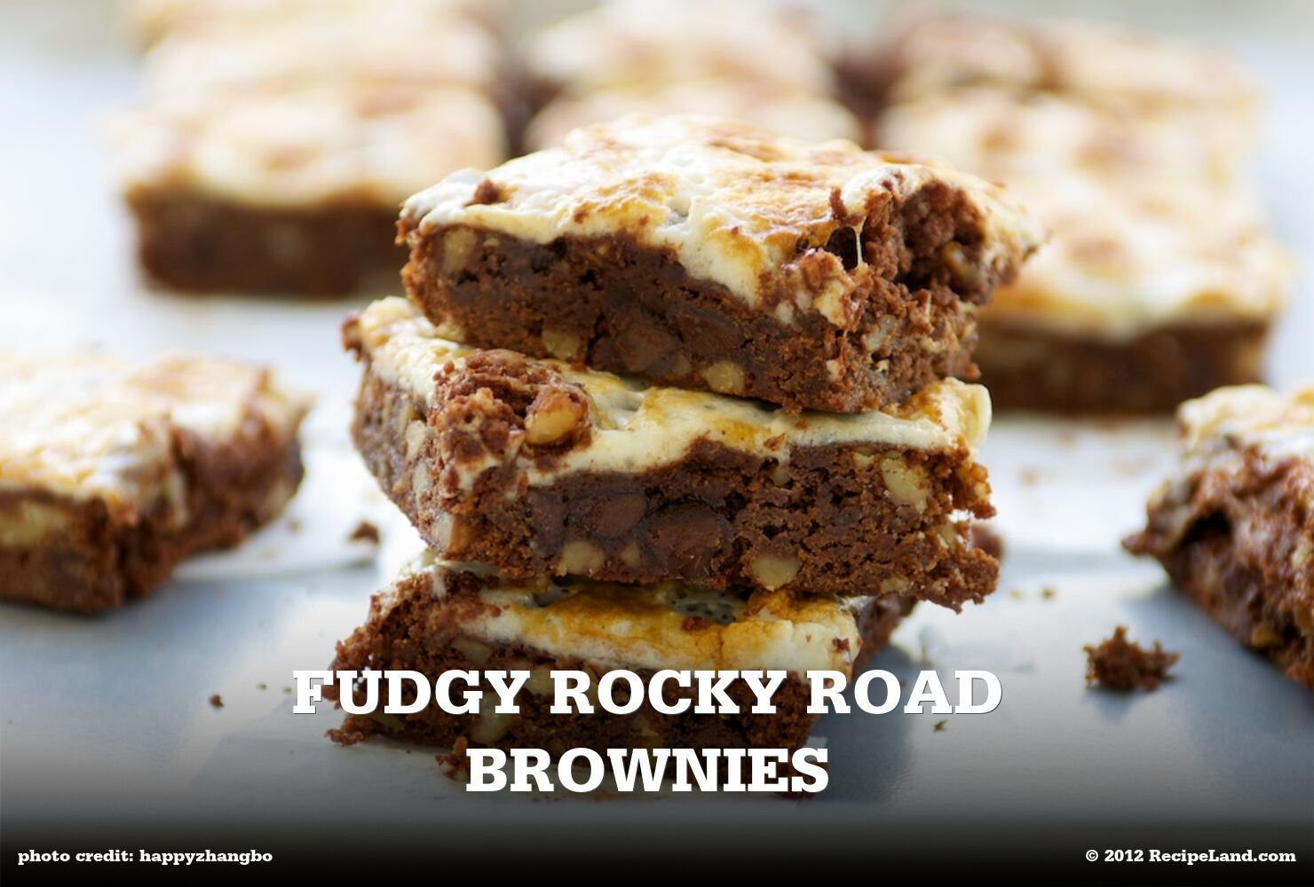 Fudgy Rocky Road Brownies